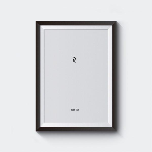 stoic stoicism amor fati art poster print