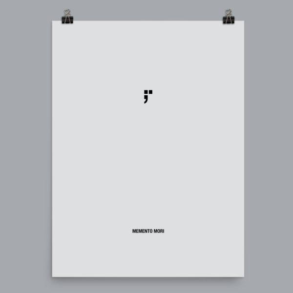 stoic stoicism memento mori art poster