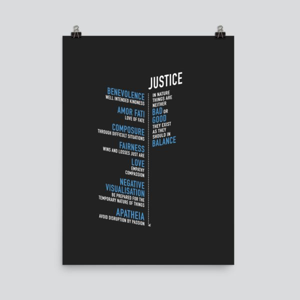 stoic stoicism virtues art poster print