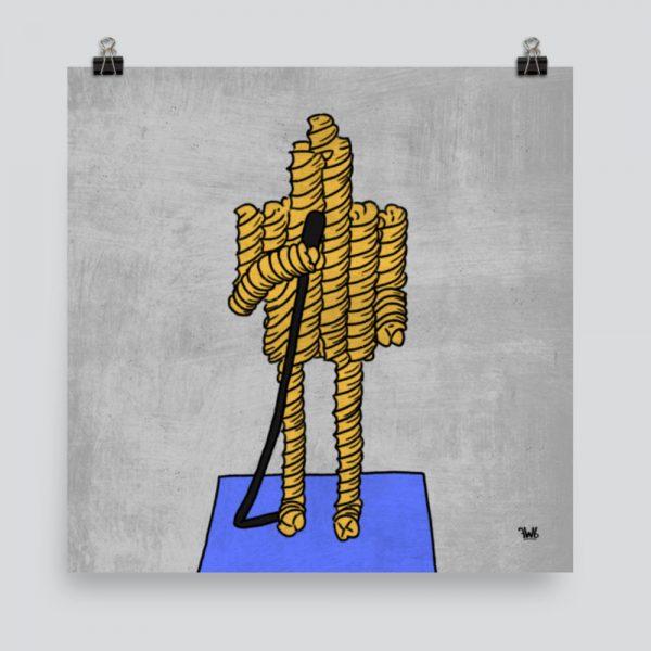 Fusilli Jerry Seinfeld Inspired Art Print