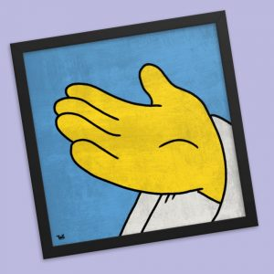 the simpsons god hand art poster print