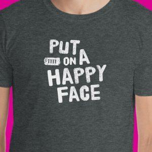 Put on a happy face joker tshirt