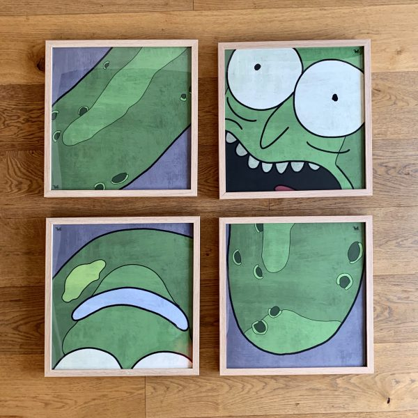 Pickle Rick Art Print Poster Set Cult Icon