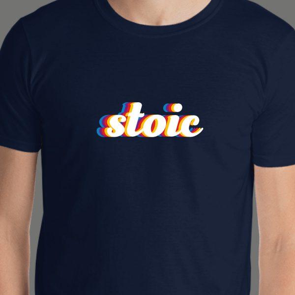 Stoic Stoicism Modern Type Short Sleeve Unisex T-Shirt