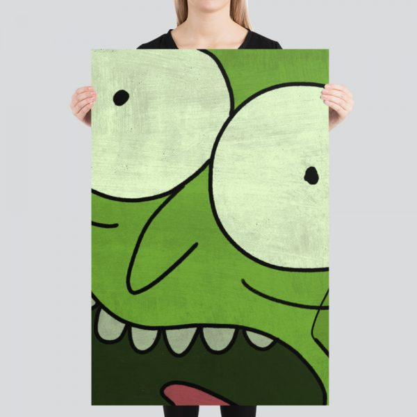 Pickle Rick Rick and Morty Art Print Poster