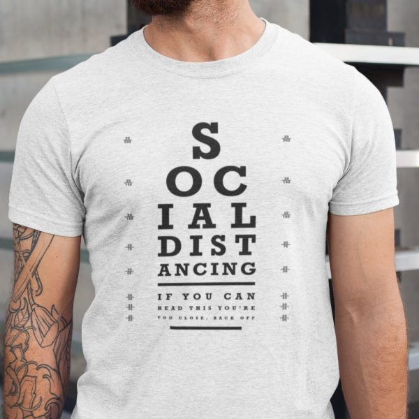 Social Distancing Quarantine Isolation Short-Sleeve Unisex Eye Chart T-Shirt