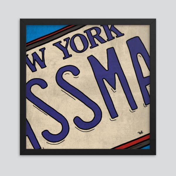 Seinfeld - Assman License Plate Art Print Poster