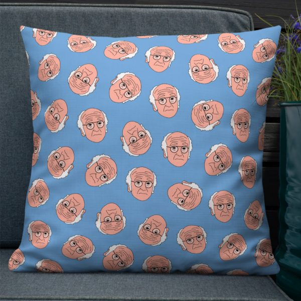 Larry David curb your enthusiasm blue pillow cushion