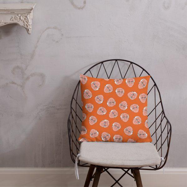 Larry All The Things Larry David Premium Pillow/Cushion (Orange)
