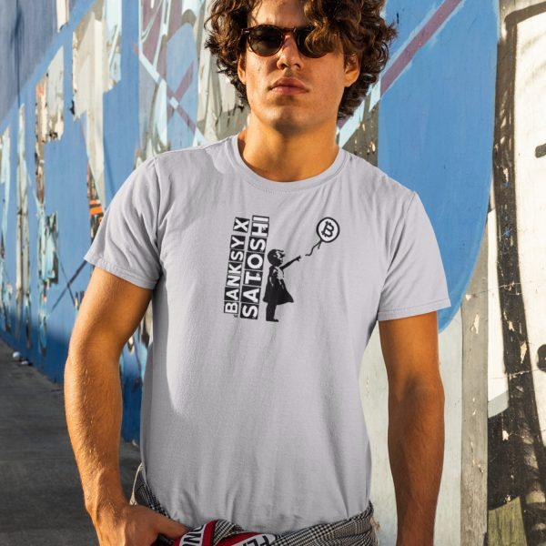 Banksy x Satoshi Balloon Girl Short-Sleeve Unisex T-Shirt