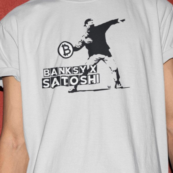 Banksy x Satoshi Flower Thrower Short-Sleeve Unisex T-Shirt