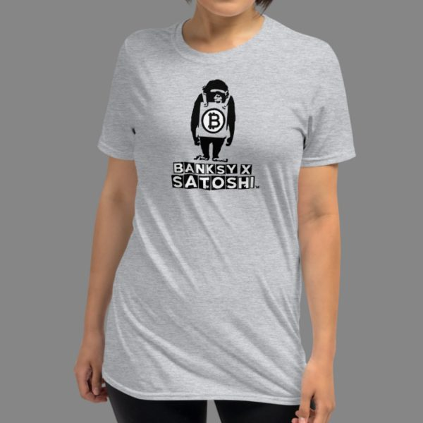 Banksy x Satoshi Monkey Short-Sleeve Unisex T-Shirt